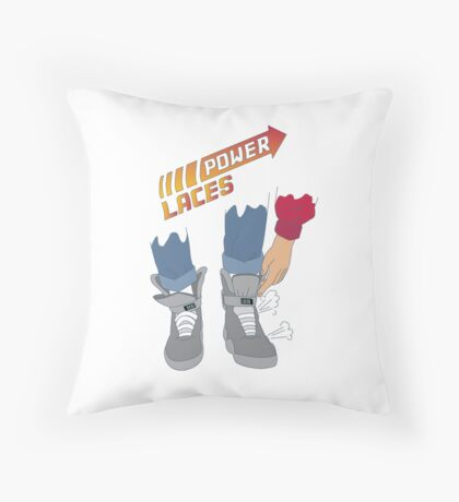 Power Laces! Throw Pillow