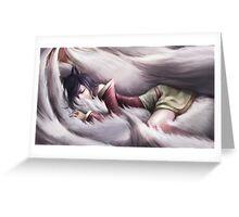 League of Legends - Ahri sleeping Greeting Card