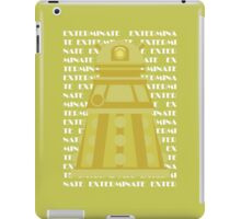 Exterminate Yellow iPad Case/Skin