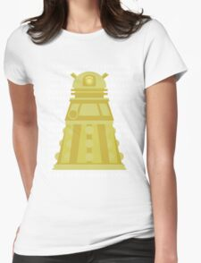 Exterminate Yellow Womens Fitted T-Shirt