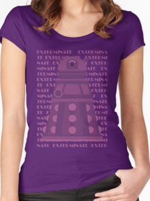 Exterminate Purple Women's Fitted Scoop T-Shirt