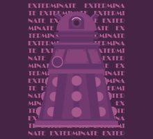 Exterminate Purple Unisex T-Shirt