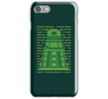 Exterminate Green iPhone Case/Skin