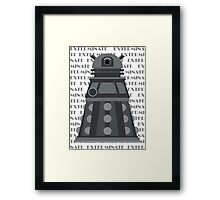 Exterminate Black Framed Print