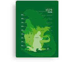 Monster Evolution Green Canvas Print