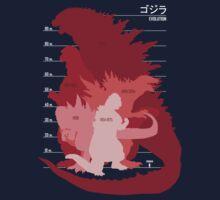 Monster Evolution Red Kids Tee