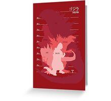 Monster Evolution Red Greeting Card