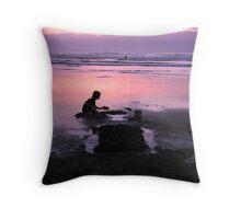 Solitude at Sunset Throw Pillow