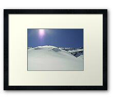 Snowy mountain top Framed Print