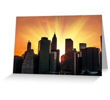 Sunset in New York City Greeting Card