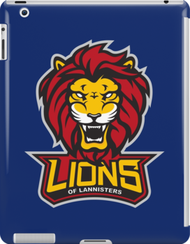 Lions of Lannisters IPad by Saintsecond