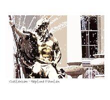 Cheltenham - Neptune Fountain by Sue Porter
