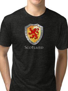 Scotland Lion Rampant Shield Tri-blend T-Shirt