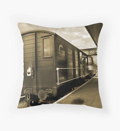 Old Wagon (sepia toned) Throw Pillow