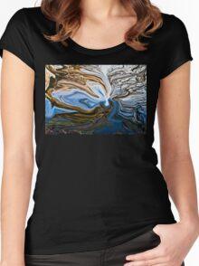 fluid water Women's Fitted Scoop T-Shirt