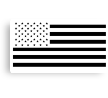American Flag, NEGATIVE on white, Stars & Stripes, Pure & Simple, USA Canvas Print