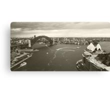 Sydney icons aerial Canvas Print