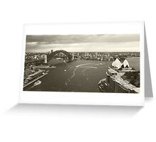 Sydney icons aerial Greeting Card