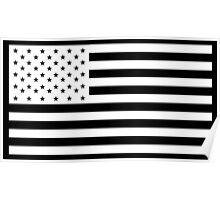 American Flag, America, Americana, NEGATIVE on black, Stars & Stripes, Pure & Simple, USA Poster