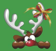 Funny Christmas Reindeer Cartoon T-Shirt