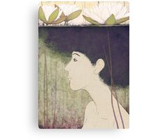 mermaid with lily Canvas Print
