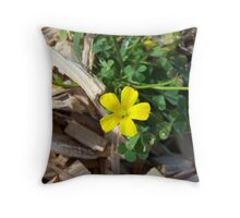 yellow wildflower/weed Throw Pillow