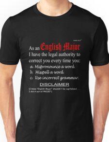English Major (dark background) Unisex T-Shirt