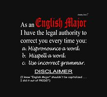English Major (dark background) T-Shirt