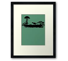 T-Rex on the hunt.. Framed Print
