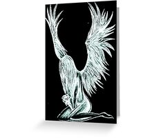 """I Am The Angel From Above"" Greeting Card"
