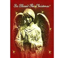 Be Blessed This Christmas Angel Photographic Print