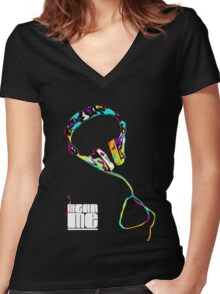 HEARME Empower Women's Fitted V-Neck T-Shirt