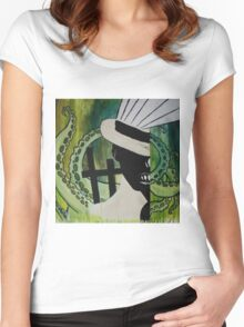 Of Monsters and Men: Predator  Women's Fitted Scoop T-Shirt
