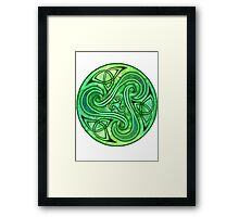 Green Triskell Framed Print