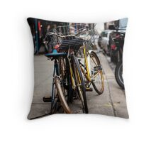 East Village Bicycle Tangle Throw Pillow