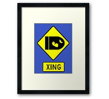 CAUTION - BULLET BILLS Framed Print