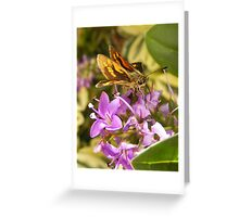 Four winged insect. Greeting Card