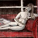 "Nude and cat by Belinda ""BillyLee"" NYE (Printmaker)"