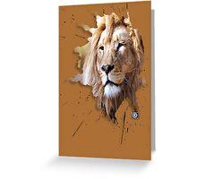 lions big cats Greeting Card
