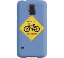 Watch Out For Bikes!! - Sticker Samsung Galaxy Case/Skin