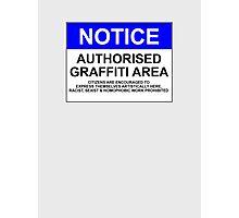 AUTHORISED GRAFFITI AREA Photographic Print