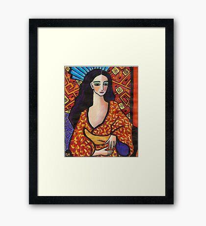 gondwana geisha Framed Print