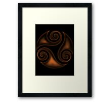 Black Triskell Framed Print