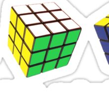 rubix cubed Sticker