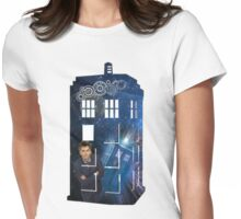 10th & The Tardis Womens Fitted T-Shirt