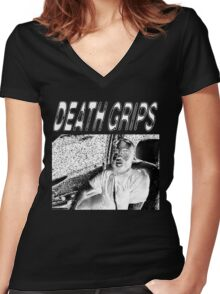 IT GOES (YAH!) Inverse Women's Fitted V-Neck T-Shirt