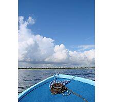 Blue Boat Photographic Print