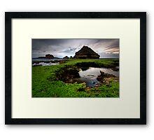 Green Rock Shelf Bridge Framed Print