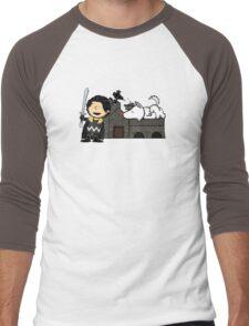 Jon Snow Peanuts Men's Baseball ¾ T-Shirt