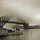 Bridge in Fog by Annette Blattman
